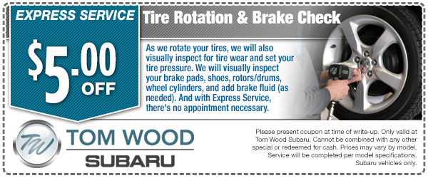Express Service Tire Rotation & Brake Check Special Service Savings