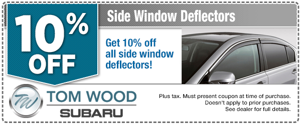 Subaru Side Window Deflectors Parts Special serving Zionsville, IN