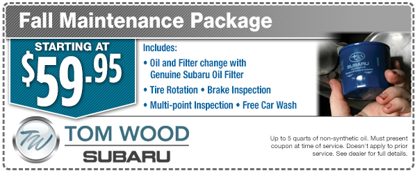 Subaru Fall Maintenance Service Special in Indianapolis, IN