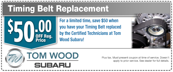 Subaru Timing Belt Replacement Service Special in Indianapolis, IN
