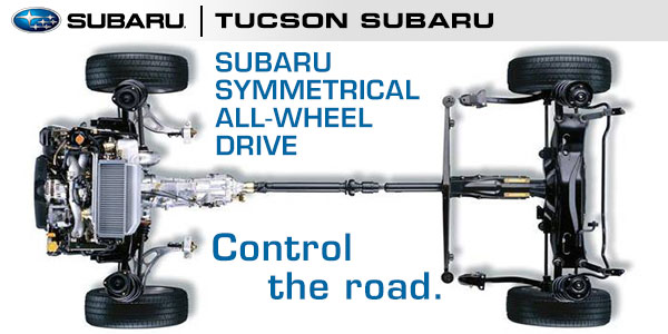 Subaru All Wheel Drive >> Subaru Symmetrical All Wheel Drive System Tucson Subaru