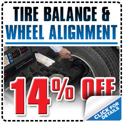 Tucson Subaru Tire Balance & Wheel Alignment Service Special Discount Coupon serving Arizona
