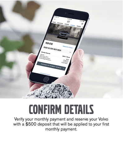Use the Care By Volvo App to Confirm Details