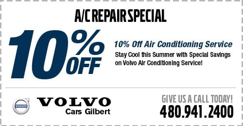 Air Conditioner Repair Special at Volvo Cars Gilbert serving Chandler, AZ