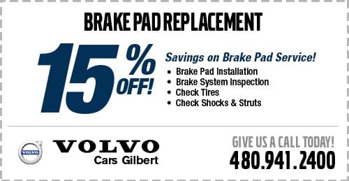 Brake Pad Replacement Service Special at Volvo Cars Gilbert serving Mesa, AZ