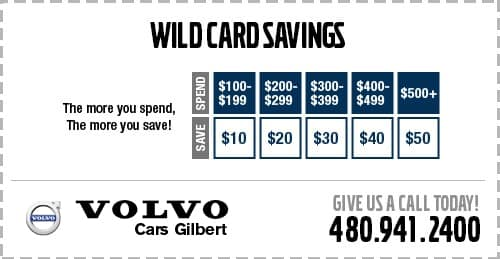 Spend More & Save More on Service at Volvo Cars Gilbert serving Phoenix, AZ