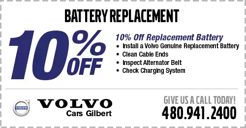 Click to View Our Battery Replacement Service Special at Volvo Cars Gilbert serving Phoenix, AZ