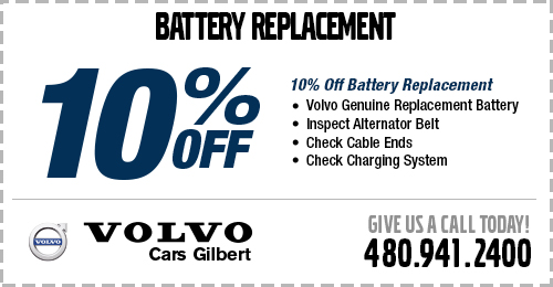 Save with our genuine Volvo battery replacement service special.