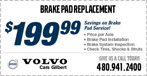 Click to view our Volvo Brake Pad Replacement service special at Volvo Cars Gilbert