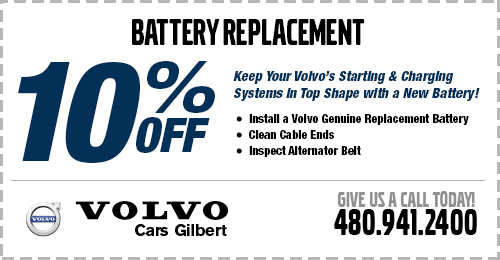 Battery Replacement Service Special at Volvo Cars Gilbert
