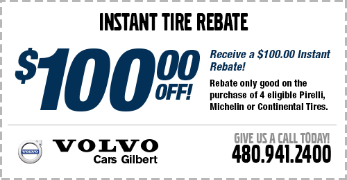 Instant Rebate Tire Service Special at Volvo Cars Gilbert