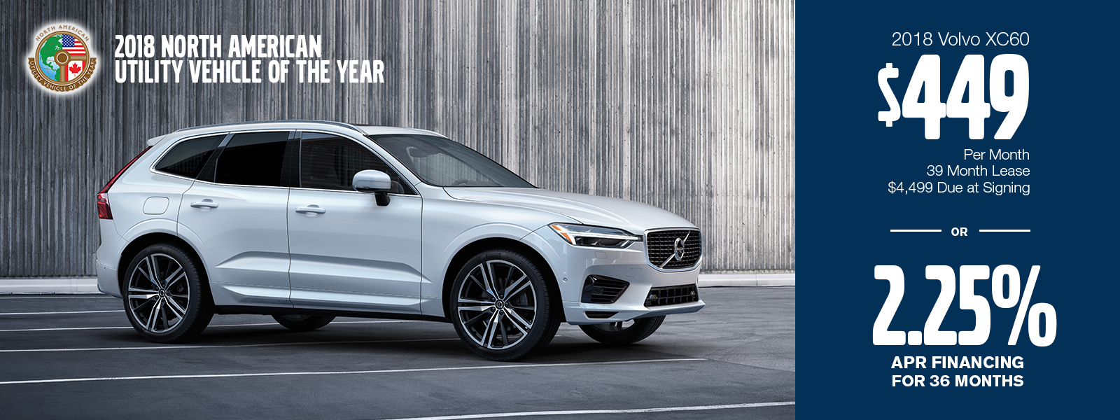 2018 XC60 Lease or Finance Special at Volvo Cars Gilbert