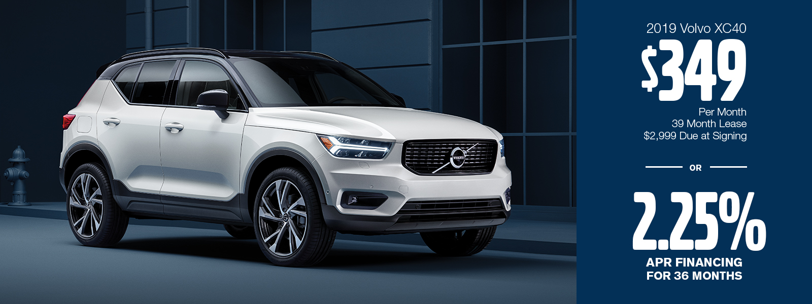 2019 XC40 Lease or Low APR Special at Volvo Cars Gilbert