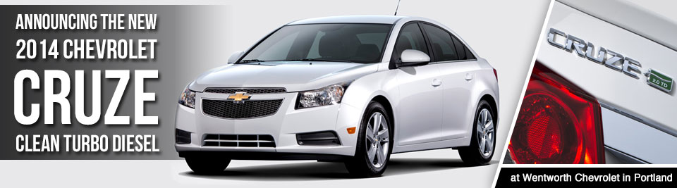 New 2014 Chevrolet Cruze Clean Turbo Diesel Model Vehicle Information & Specifications serving Portland, Oregon & Vancouver, Washington