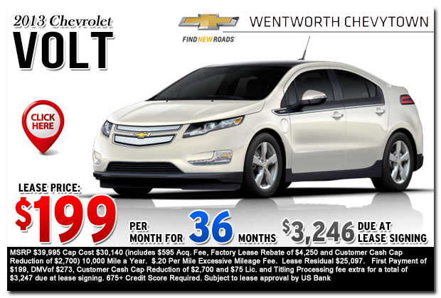New 2013 Chevy Volt Sign & Drive Lease Special Offer serving Portland, OR