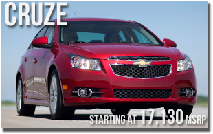 New 2013 Chevy Cruze at Wentworth Chevrolet Portland, Oregon City, Vancouver WA, Beaverton, Gresham, OR