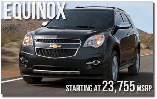 New 2013 Chevy Equinox at Wentworth Chevrolet Portland, Oregon City, Vancouver WA, Beaverton, Gresham, OR