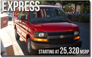 New 2013 Chevy Express at Wentworth Chevrolet Portland, Oregon City, Vancouver WA, Beaverton, Gresham, OR