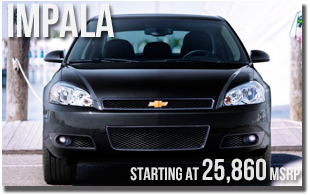 New 2013 Chevy Impala at Wentworth Chevrolet Portland, Oregon City, Vancouver WA, Beaverton, Gresham, OR