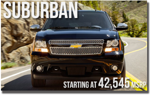 New 2013 Chevy Suburban at Wentworth Chevrolet Portland, Oregon City, Vancouver WA, Beaverton, Gresham, OR