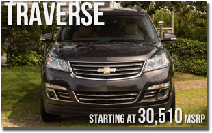 New 2013 Chevy Traverse at Wentworth Chevrolet Portland, Oregon City, Vancouver WA, Beaverton, Gresham, OR