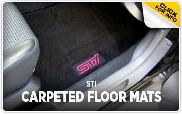 Click to view our STI Carpeted Floor Mats performance parts information at Wentworth Subaru