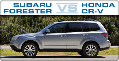 Subaru Forester vs Honda CR-V Comparison serving Portland, Oregon City, Vancouver, Beaverton, and Gresham