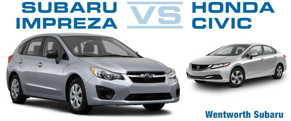 Portland Subaru Impreza VS Honda Civic Performance Comparison Oregon