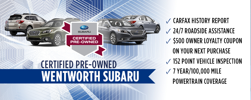 Wentworth Subaru Certified Pre-Owned Program serving Portland, Oregon