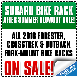 Click to view our Subaru bike rack blowout parts special in Portland, OR