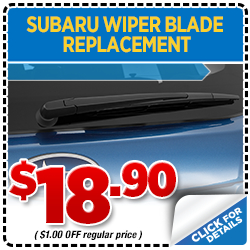 Click to print this coupon and save on your next Portland, OR area Windshield Wiper Blade Replacement Service change from Wentworth Subaru