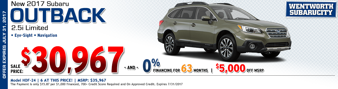 Save on a new 2017 Subaru 2.5i Limited Outback in Portland, OR