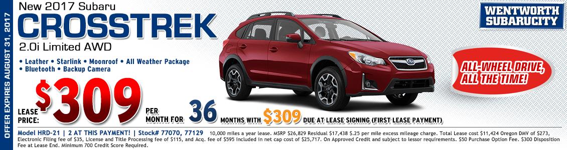 2017 Subaru Crosstrek Limited 2.0i Lease Special in Portland, OR