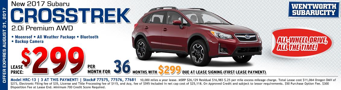 2017 Subaru Crosstrek Premium 2.0i Low Payment Lease Special in Portland, OR