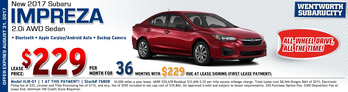 2017 Subaru Impreza Sedan 2.0i Low Payment Lease Special in Portland, OR