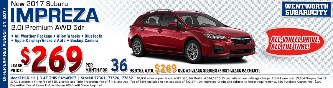 2017 Subaru Impreza Wagon Premium 2.0i Lease Special in Portland, OR