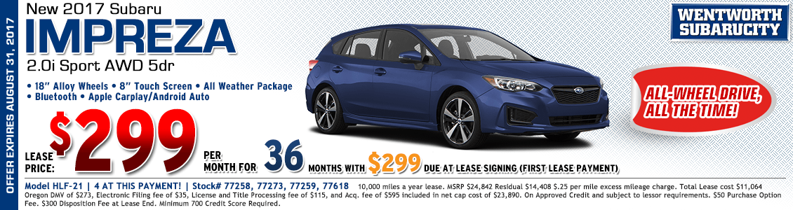 2017 Subaru Impreza Wagon Sport 2.0i Low Payment Lease Special in Portland, OR