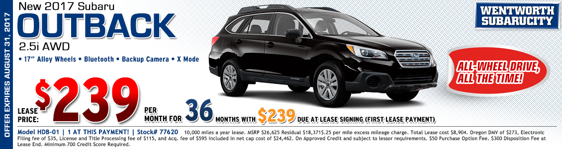 2017 Subaru Outback 2.5i Lease Special in Portland, OR