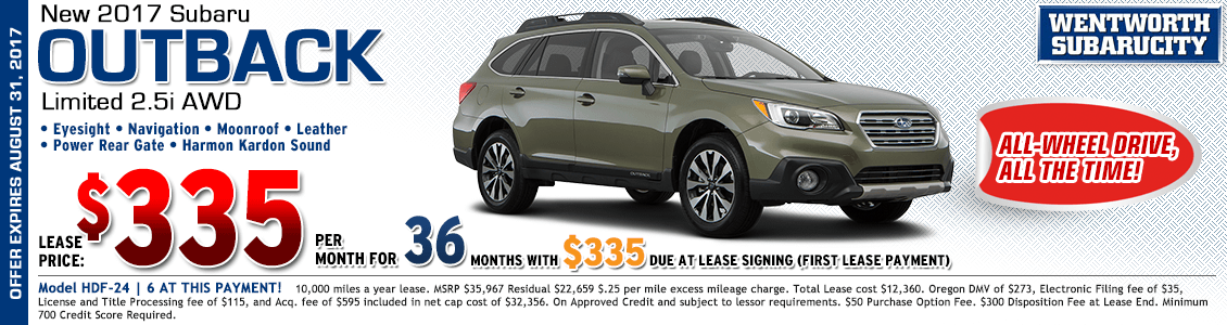 2017 Subaru Outback Limited 2.5i Lease Special in Portland, OR