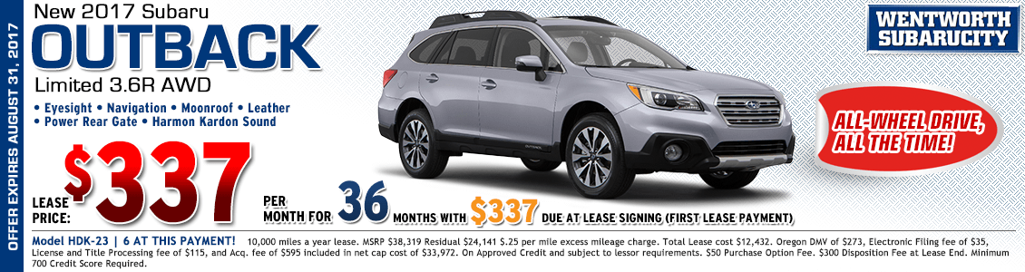 2017 Subaru Outback Limited 3.6R Lease Special in Portland, OR