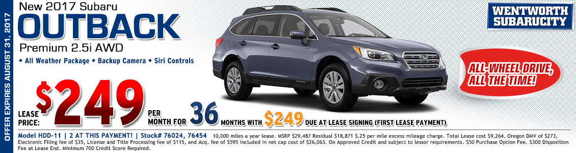 2017 Subaru Outback Premium 2.5i Low Payment Lease Special in Portland, OR