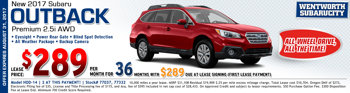 2017 Subaru Outback Premium 2.5i Lease Special in Portland, OR