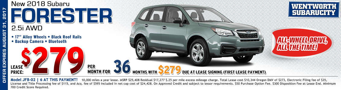2018 Subaru Forester 2.5i Low Payment Lease Special in Portland, OR