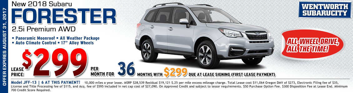 2018 Subaru Forester Premium 2.5i Low Payment Lease Special in Portland, OR
