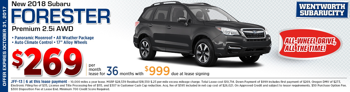 New 2018 Subaru Forester Premium 2.5i Lease Special in Portland, OR