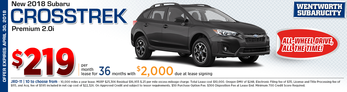 Lease a 2018 Subaru Crosstrek 2.0i Premium for a low monthly payment in Portland, OR