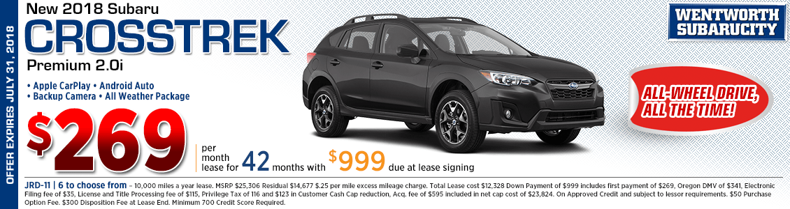 2018 Subaru Crosstrek Premium 2.5i Low Payment Lease Special in Portland, OR