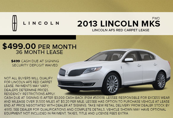New 2013 Lincoln MKS Lease Special serving White Plains, NY