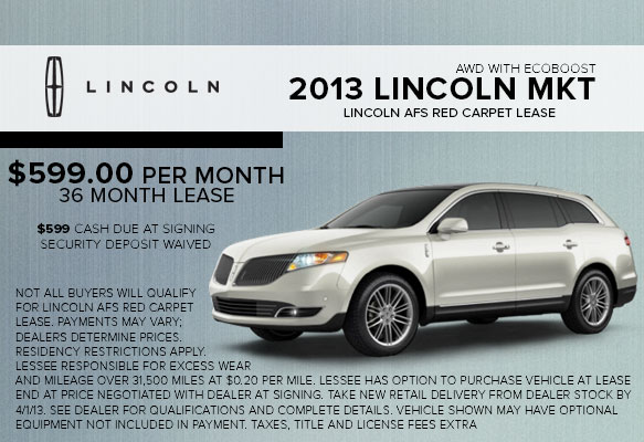 New 2013 Lincoln MKT Lease Special serving White Plains, NY