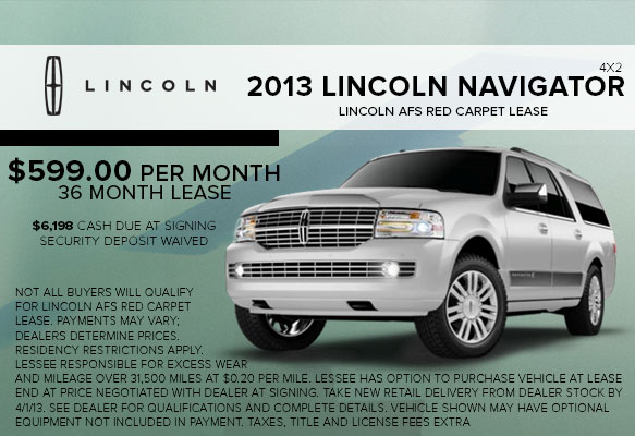 New 2013 Lincoln Navigator Lease Special serving White Plains, NY